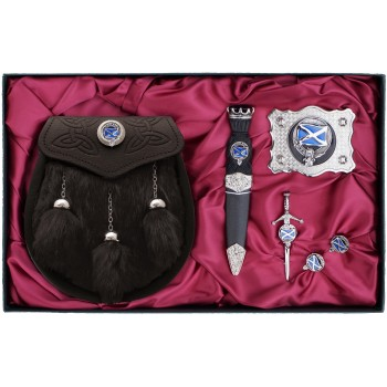 Clan Crest Gift Set - Semi Dress Sporran